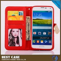 for samsung galaxy s5 i9600 leather wallet flip case cover high quality for s5