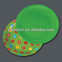 color print round paper plate disposable paper plate