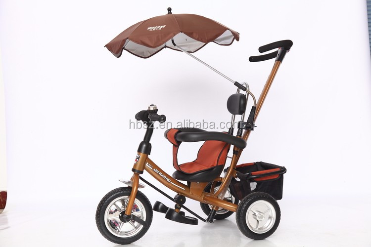 Wholesale fashion steel frame baby stroller 3 in 1 smart trike folded baby tricycle 3 in 1