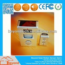 Wireless Pir Sensors For Burglar Alarm Systems Solar Motion Alarm with Remote Control,Solar Panel