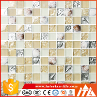 beautiful design glitter crystal glass mosaic tile,tile mosaic stickers