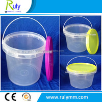 BPA free 1 liter clear gallon plastic bucket