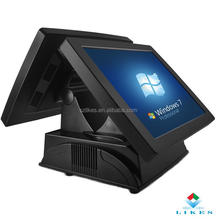 15'' Touch screen POS terminal for total set (with Printer, Laser Scanner, Cash drawer)