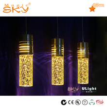 America hot sale glass pendant led suspended ceiling light fitting with mp3