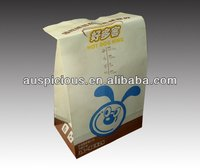 Puppy printed kraft paper package bag fried chicken bag