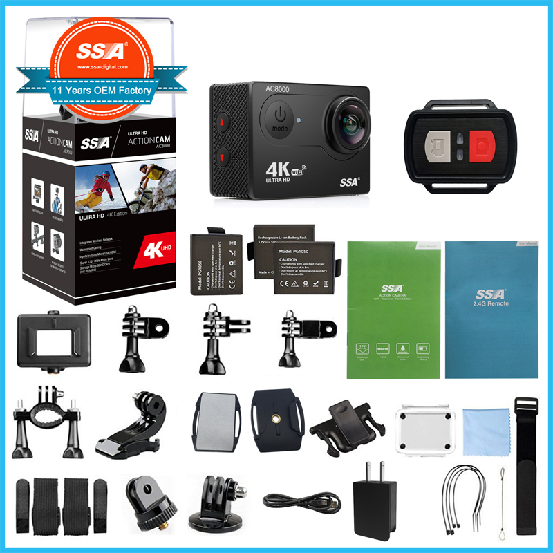 4K Ultra HD Action Camera Wireless Wrist Remote Control Sports Camera waterproof camera