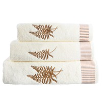 3 PCS/Lot Hand face Bath Towel Woven Plain Embroidery 100% Cotton Towel Set