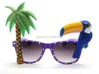 Palm Tree and Bird Funny Party Glasses(CL691)