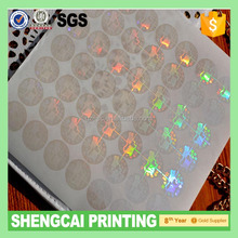 3D PET clear transparent hologram sticker for id card