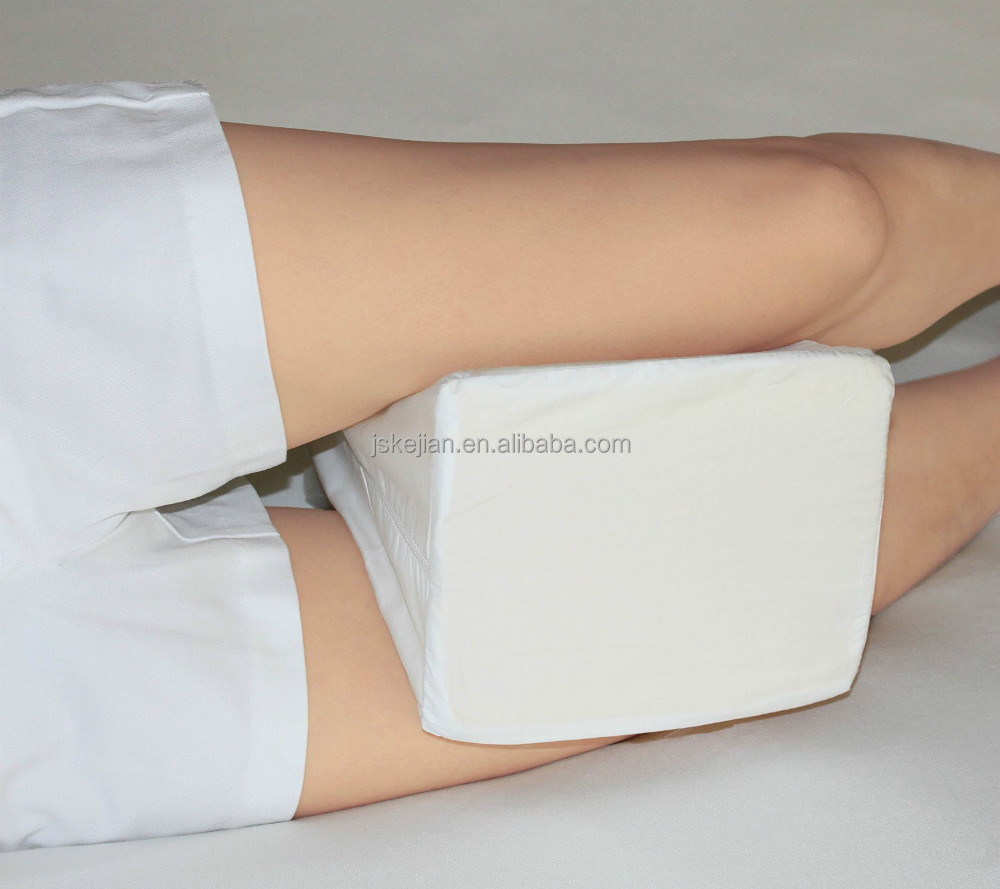 Memory Foam Contour Knee Pillow & Leg Rest-Includes Removable Cover-Best Quality Comfort for side sleeper