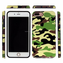 For Apple iPhone 7 7Plus Shockproof Camouflage Phone Cases Back Cover 5 Colors