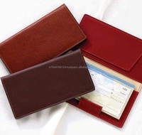 leather checkbook case with card holder / ladies checkbook wallets