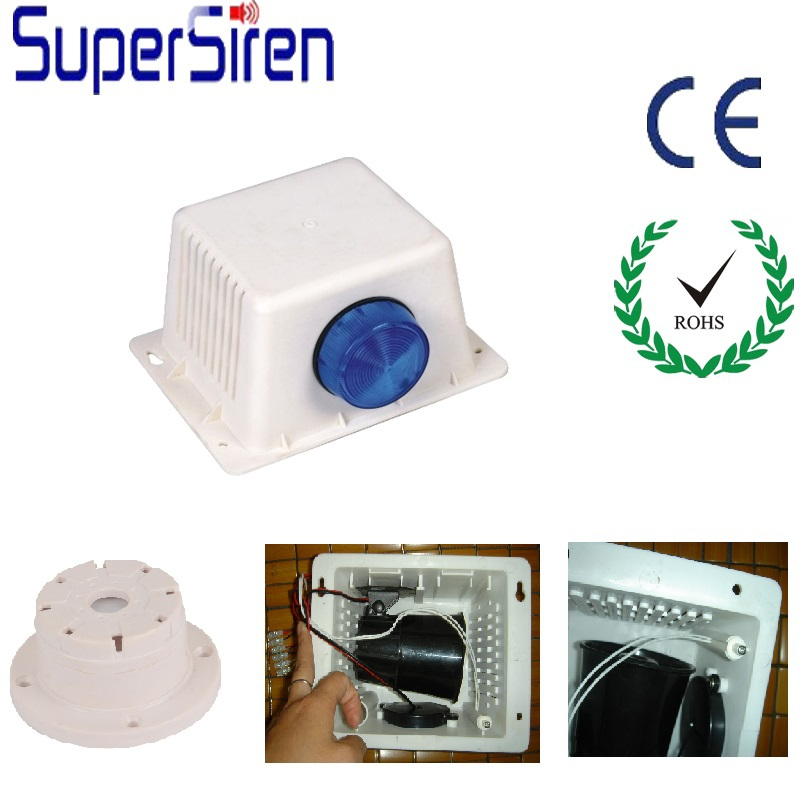 dc12v 15w 1200mA home security alarm,1 tone 6 tone 120dB fire alarm buzzer, outdoor siren and strobe light