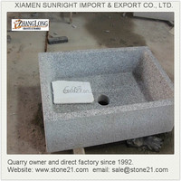 Customized solid surface bathroom stone trough sinks