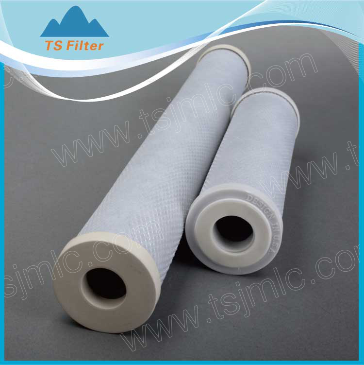 0.2 Micron 10inch Activated Carbon Block Water Filter for Baterial Removing