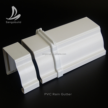 Plastic building materials Kenya/Nigeria/Tanzania PVC rain gutters hot sale price in brazil
