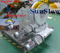 dual axis slewing drive for solar dish tracker