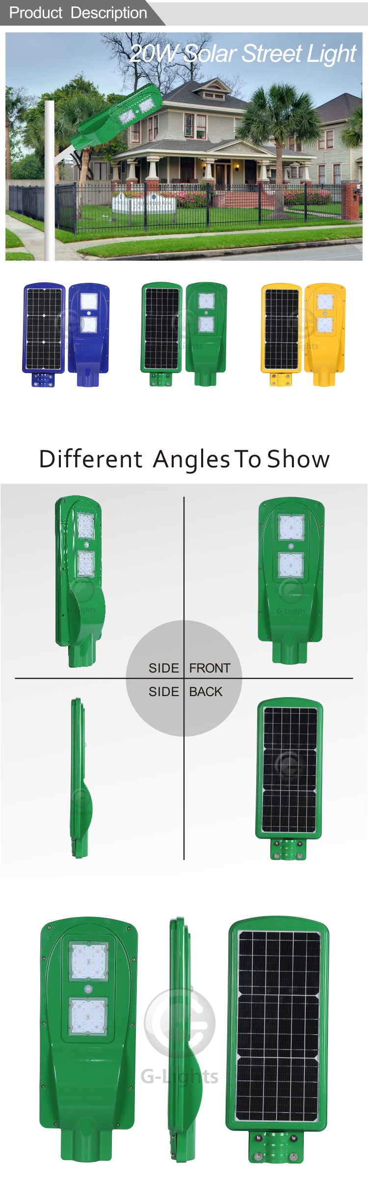 High quality 20w 25w IP65 induction all in one green solar led street light retrofit