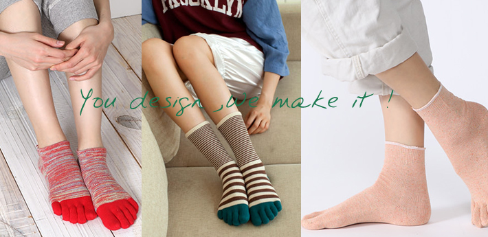 Custom OEM Design Bright Colored High Quality Winter Christmas Womens Warm Cotton Yoga Latex Toe Socks