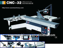 CNC-32 Woodworking Sliding Panel Saw Machine SH6130TZD with 3200x430mm linear inner structure and 45degree tilting 6.6kw motor