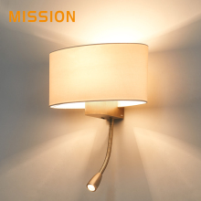 Customized any size European popular cozy metal bedside wall lamps