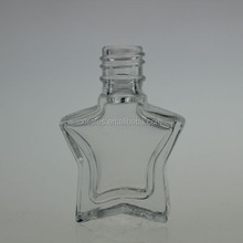 FIVE-POINTED STAR 10ML CUSTOM MADE EMPTY NAIL POLISH GLASS BOTTLE