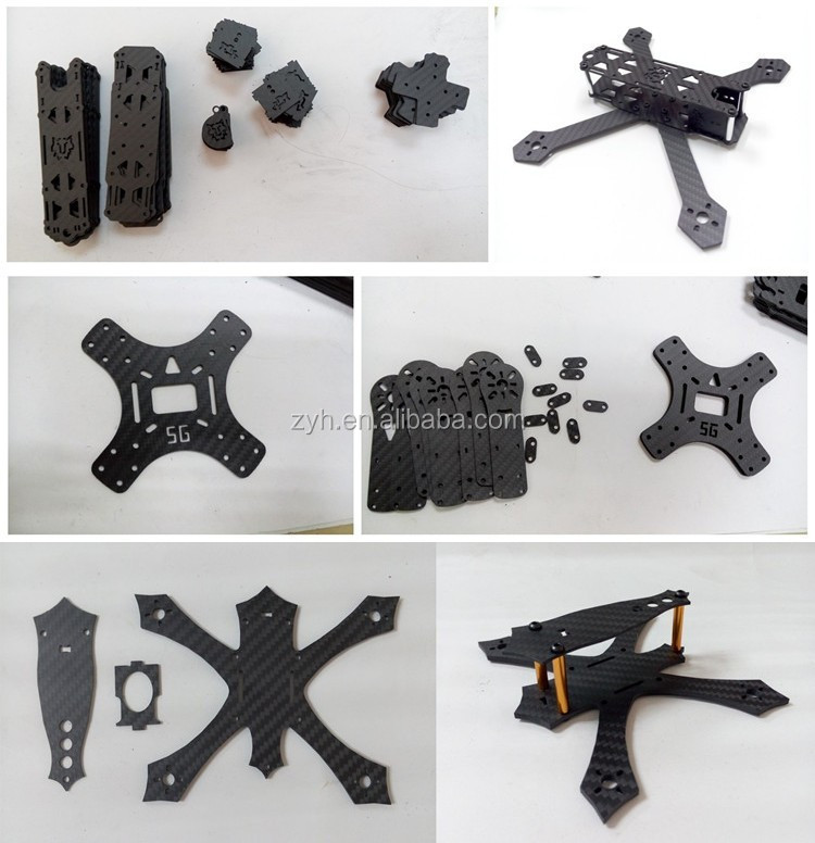 Mechanical parts, drone,RC racing parts, UAV Application 3k Twill & Plain high glossy carbon fiber sheet / plate 200x300mm