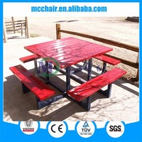 2016 D1 Wholesale fast food table restaurant tables aluminum dinner table and chairs