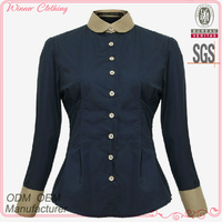 Fashion garment OEM/ODM manufacturer new patch work blouse designs