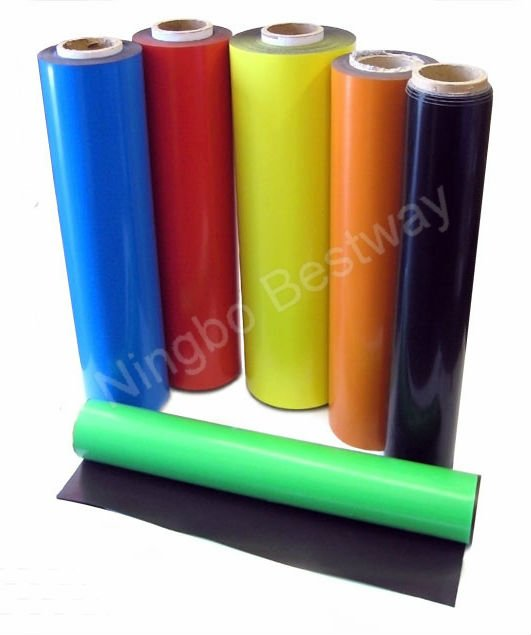 Flexible rubber magnet With Color PVC Film
