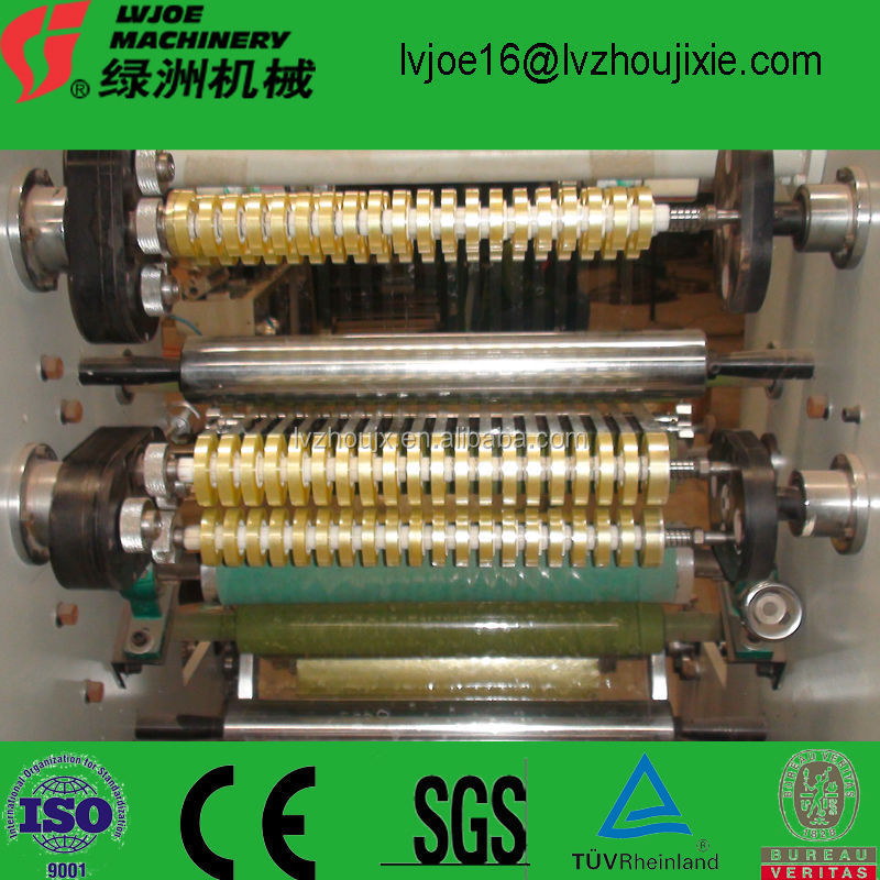 Stationery Tape Slicing Machine with 4 shafts auto exchanging rollers
