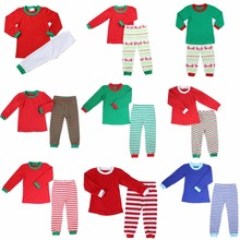 2017 hot sale baby outfit OME service whloesale boutique christmas cotton kids pyjamas