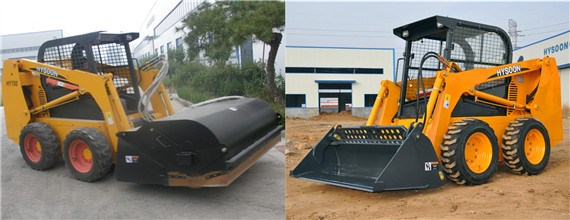 China wheel Bobcat skid steer loader for sale with attachment.jpg