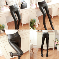 Hot Sale Women's Sexy Fashion Faux Leather High Waist Skinny PU Leggings Pants Plus Size PU Leather Winter Leggings For Women
