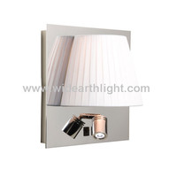 Factory Price UL CUL Listed Modern Chrome Finish Bed Lamp Mounted Wall With LED Light For Hotel Bedroom W80422