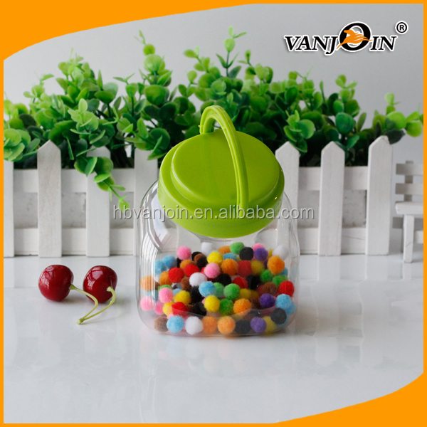 BPA Free unique shaped Plastic Food Cans Food Jars With Laptop Lid