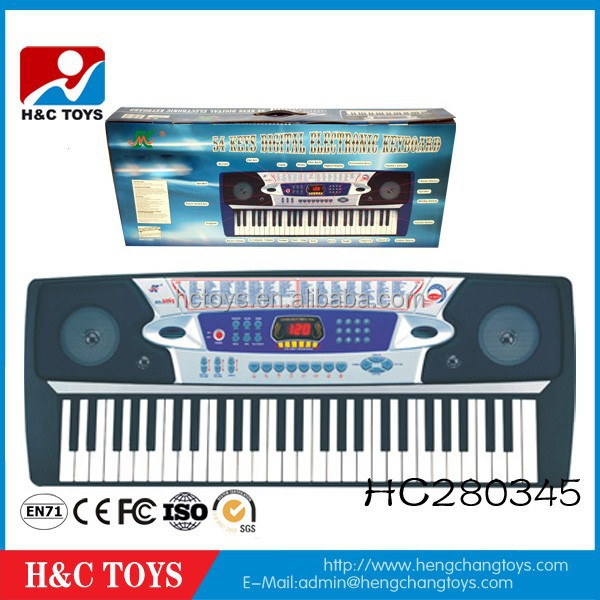 Educational kids toy 54 keys electronic keyboard electronic music organ with microphone HC280345