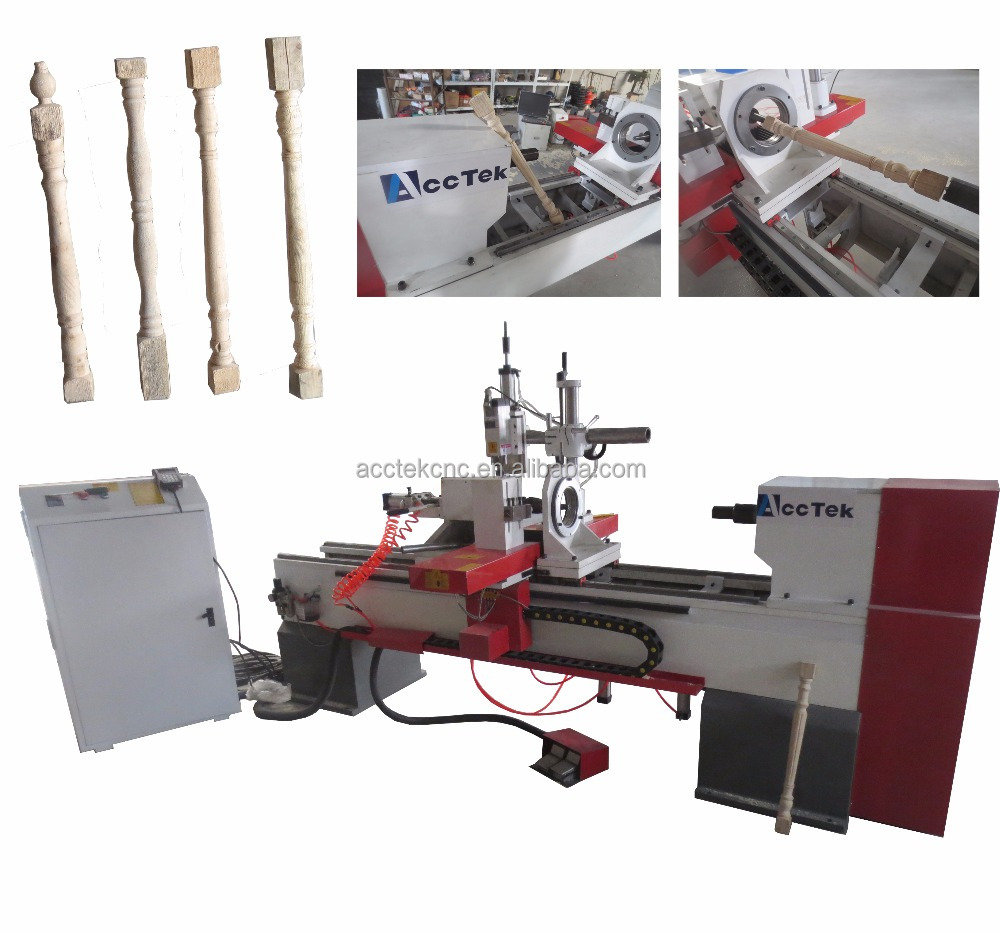 automatic cnc router wood turning lathes for spiral staircase