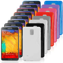 8 Colors Stock Silicon Case Cover For Samsung Galaxy Note 4