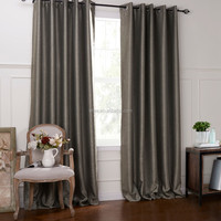 Simple Modern Style Linen&Cotton Fabric Curtain Blackout Curtains Factory