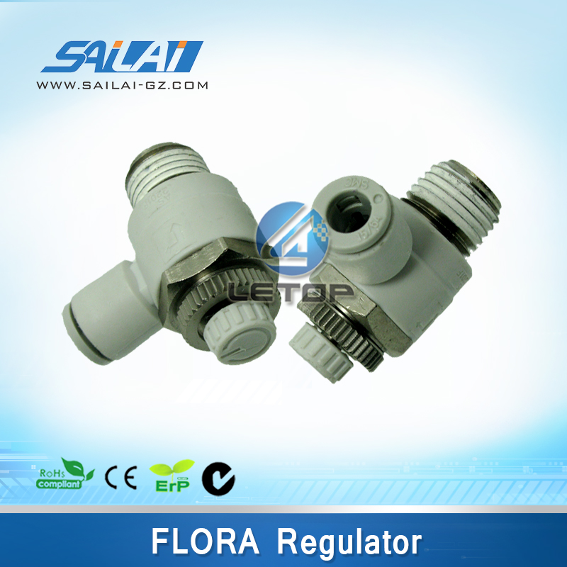 air flow printer regulating valve for flora machine