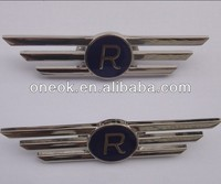 Metal Nickel plating eagle wing badge, pilot badge, custom airplane badge for cheap