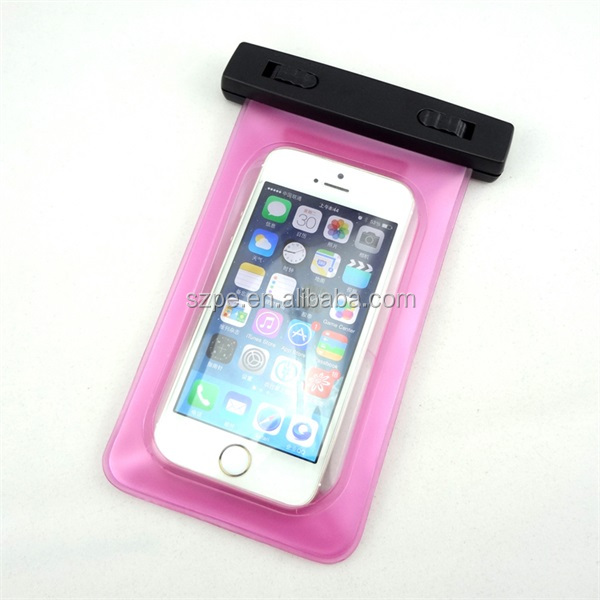 PVC waterproof cell phone case