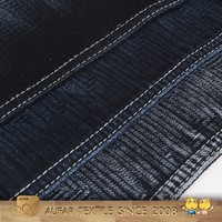 OE Black Stretch Denim Factory thin and light black and white composition denim fabric