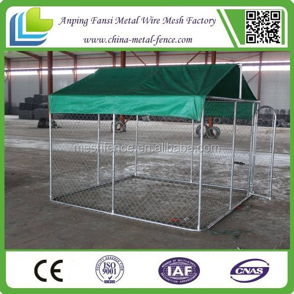 Residential chain link dog kennel enclosure fencing (alibaba.com)