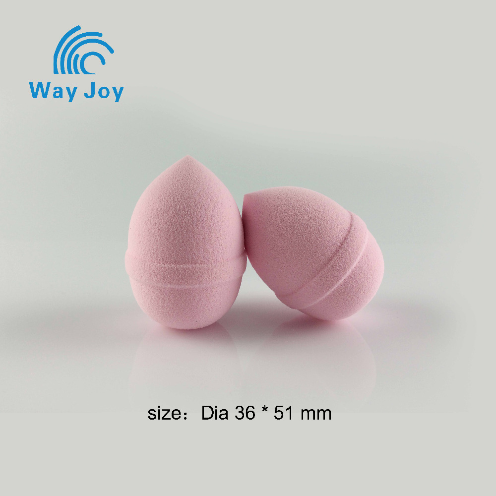 egg shape sales light pink makeup sponges with belt