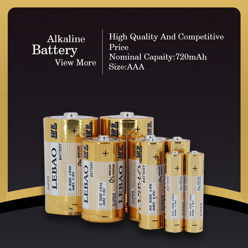 Lebao Various Specification Dry Alkaline Batteries Excellent Quality AAA LR03 AM4 1.5V Alkaline Battery