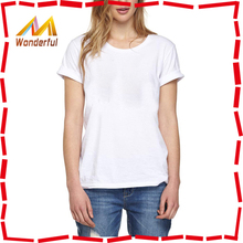 2015 new hot tees short sleeve cotton t-shirt women/girls casual pure white shirt