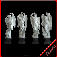 Large Life-Size White Marble Angel Statue (YL-R133)