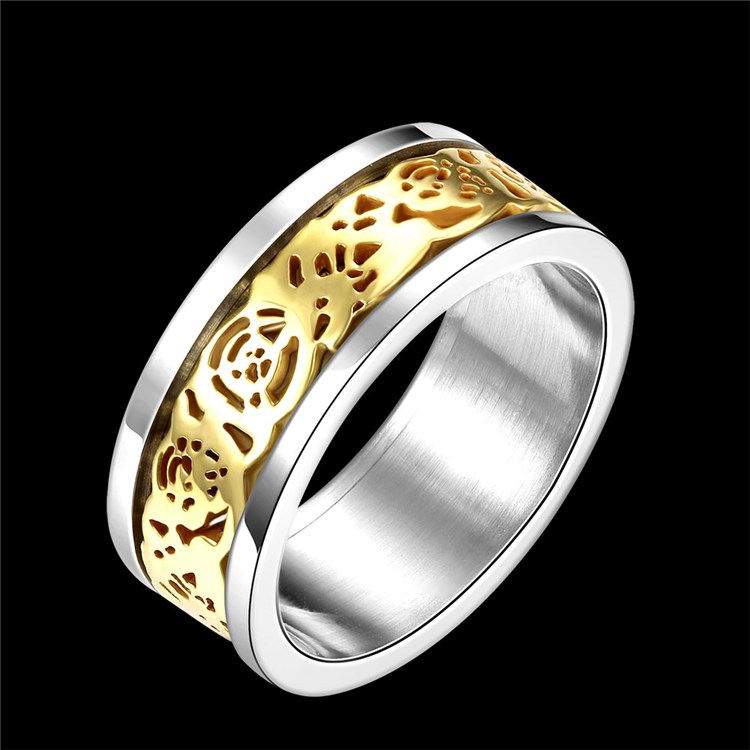 Special titanium wedding ring for men, fashion titanium ring:Latest style titanium ring